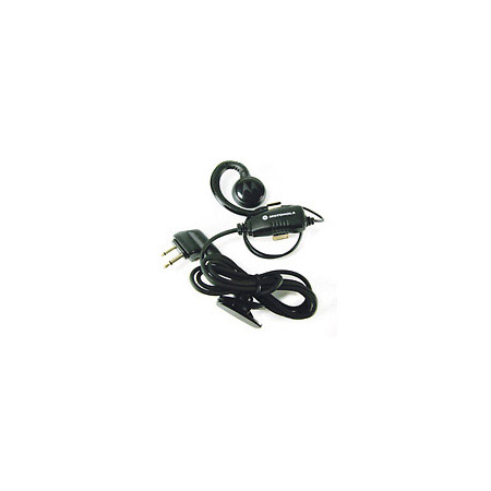 Motorola RLN6423A Light Weight Swivel Earpice w/ Clip On PTT Mic