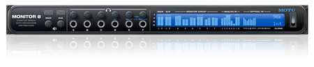 Motu Monitor 8 - Monitor Mixer / Headphone Amp & USB/AVB Audio Interface