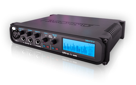 MOTU UltraLite AVB 18x18 USB/AVB Audio Interface with DSP - Wireless Control and Audio Networking