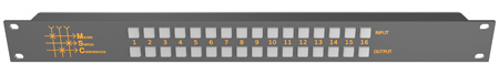 Matrix Switch MSC-CP16X16E 16x16 Elastomeric Remote Button Panel