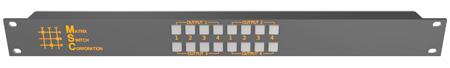 Matrix Switch MSC-CP4X4E 4x4 Elastomeric Remote Button Panel