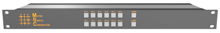 Matrix Switch MSC-HD121AAL 12 Input 1 Output 3G-SDI Video Router With Button Panel and Analog Audio