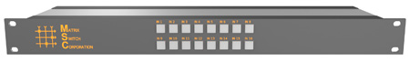 Matrix Switch MSC-HD161DEL 16 Input 1 Output 3G-SDI Video Router With Button Panel and AES Audio