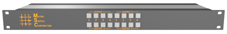 Matrix Switch MSC-HD44DEL 4 Input 4 Output 3G-SDI Video Router With Button Panel and AES Audio
