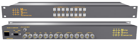 Matrix Switch MSC-HD44L 1.5G/HD/SD-SDI 4x4 Compact Routing Switcher -Button Ct