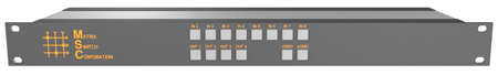 Matrix Switch MSC-HD84L 3G/HD/SD-SDI 8x4 Compact Routing Switcher-Button Ctrl