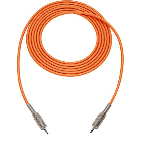 Mogami Audio Cable 3.5mm Mini TS Male to Male - 3 Foot - Orange