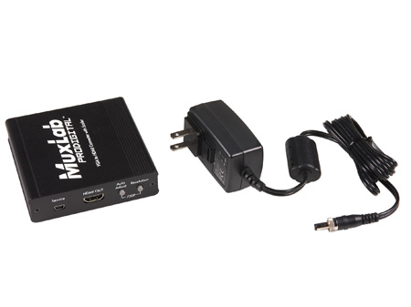 Muxlab 500149 VGA to HDMI Converter with Scaler