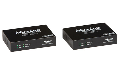 Muxlab 500456 HDMI 5-Play Extender Kit/ UHD-4K