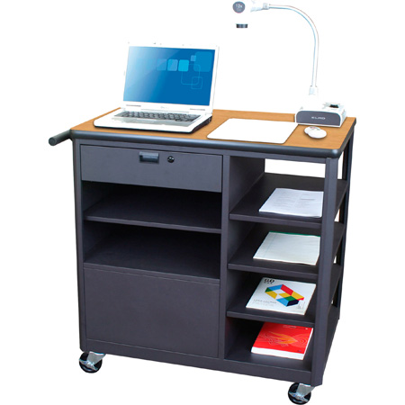 Marvel MVCSE3624OKDT Presenter Mobile Presentation Cart - Oak