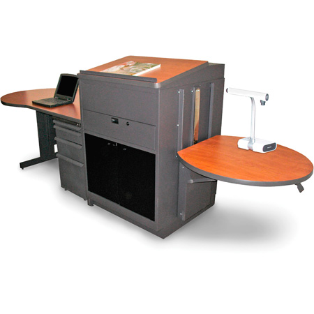 Marvel MVMDM7230CHDT-H Desk/Media Center - Steel Door; Hand Mic - Cherry