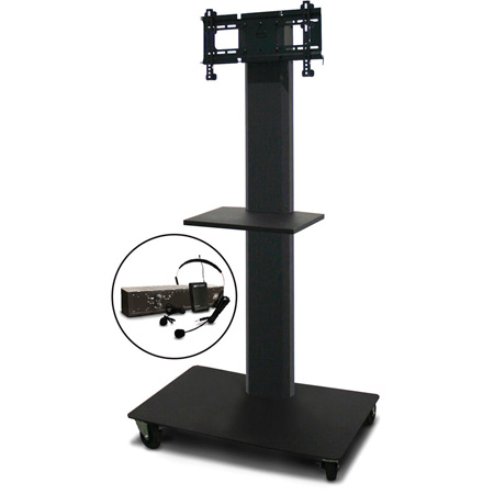 Marvel MVPFS3255DT-E Monitor Stand with Shelf & Earpiece Microphone