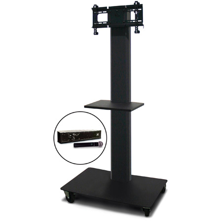 Marvel MVPFS3265DT-H Monitor Stand with Shelf & Hand Microphone