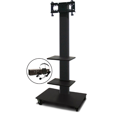 Marvel MVPFS3280DT-2E Monitor Stand with Two Shelves & Earpiece Microphone