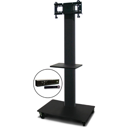 Marvel MVPFS3280DT-H Monitor Stand with Shelf & Hand Microphone