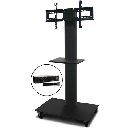 Marvel MVPFS6055DT-H Monitor Stand with Shelf & Hand Microphone
