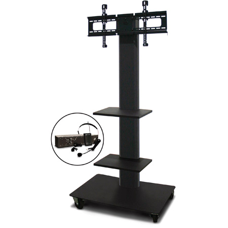 Marvel MVPFS6065DT-2E Monitor Stand with Two Shelves & Earpiece Microphone