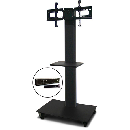 Marvel MVPFS6065DT-H Monitor Stand with Shelf & Hand Microphone