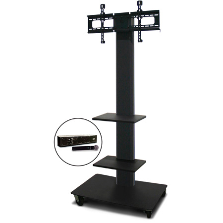 Marvel MVPFS6080DT-2H Monitor Stand with Two Shelves & Hand Microphone