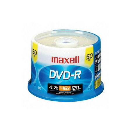 Maxell 16x Write-Once DVD-R Spindle 50 Disc Spindle