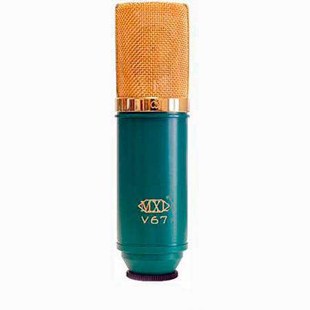 MXL V67G Gold Diaphragm Condenser With Mounting Bracket and Pouch