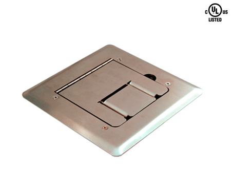 Mystery FMCA1800 Stainless Steel Self Trimming Floor Box with Cable Door