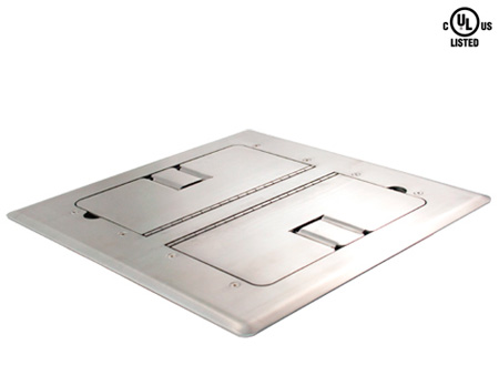 Mystery FMCA3800 Floor box/ Stainless steel/ Self-trimming with Cable Door