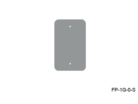 Mystery FP-1G-0-S 1-Gang Stainless Wall Panel Blank