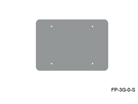 Mystery FP-3G-0-S 3-Gang Stainless Wall Panel Blank