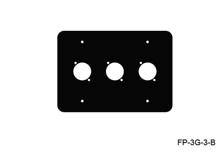 Mystery FP-3G-3-B 3-Gang Black Wall Panel 3 Each Neutrik D