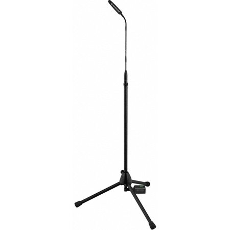 Sennheiser 80cm High Mic Stand With XLRF Connector Wired At Top and XLRM Bottom