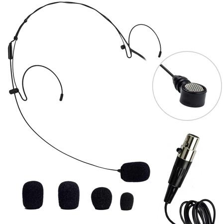Nady HM-20U HeadMic Unidirectional Condenser Headworn Mic w/XLR Black