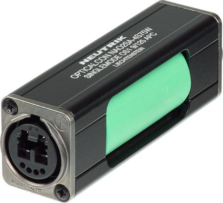 Neutrik NAO2SA-H1W-A opticalCON DUO LC Duplex APC Singlemode Coupler Green