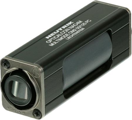 Neutrik NAO4MW-A opticalCON QUAD LC Multimode Coupler - IP65 - Black