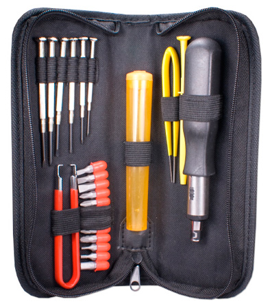 23 Piece Computer Maintenance Tool Kit with Precision Screwdrivers