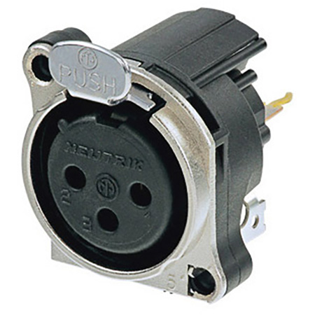 Neutrik NC3FBV1 3 Pole Female XLR Receptacle
