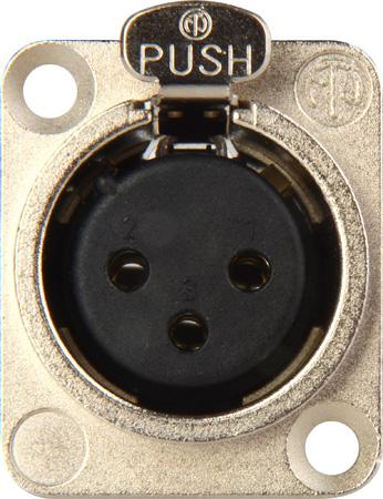 Neutrik NC3FD-L-1 3-Pin Female XLR Panel/Chassis Mount Connector - Latching