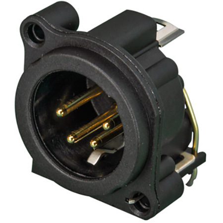 Neutrik NC4MAH 4 Pole Male XLR Receptacle - Horizontal PCB Mount