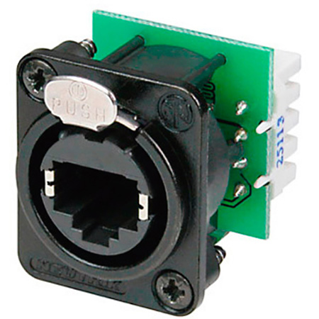 Neutrik NE8FDV-YK-B etherCON CAT5 D Series Krone Punchdown Black