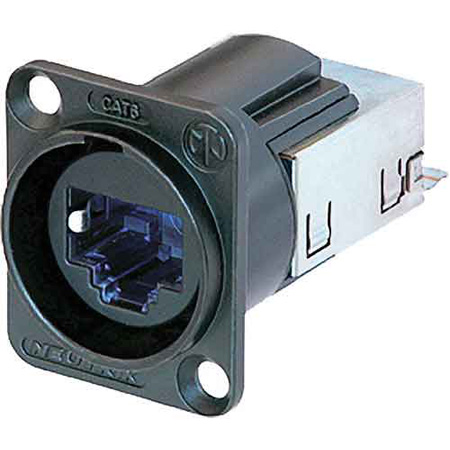 Neutrik NE8FDY-C6-B CAT6 Ethercon D-Series Chassis Mount IDC Termination - Black