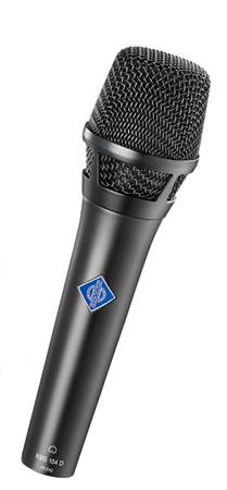 Neumann KMS 104 D Digital Cardioid Handheld w/ K 104 Capsule; KMS Pouch - Black