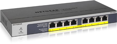 NETGEAR GS108PP-100NAS 8 Port PoE/PoE plus Gigabit Ethernet Unmanaged Switch
