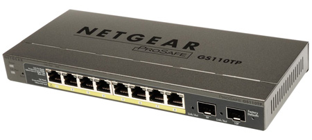 NetGear GS510TP-100NAS ProSAFE 10-Port Gigabit PoE Smart Managed Switch with 8 PoE Ports and 2 Dedicated Gigabit SFP Por