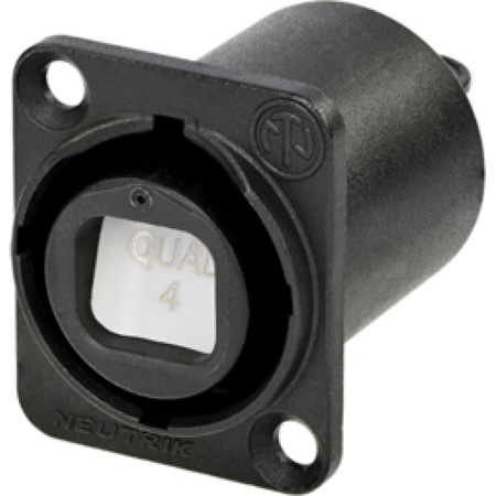 Neutrik NO4FDW-A opticalCON QUAD Chassis Connector - Black