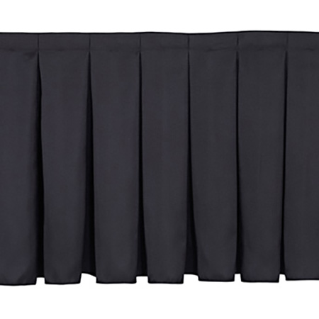 Shirred-Pleat Skirting for 24 inch H Stage- Per Foot- Black
