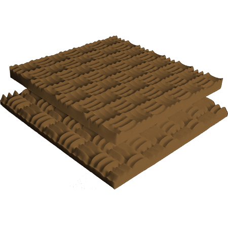 Brown Sonex Classic Polyurethane 48 x 48 x 3 Inch Box of 6