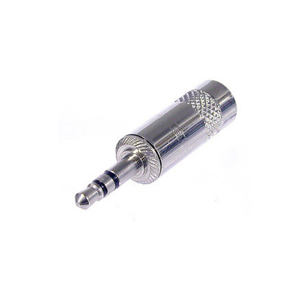 Rean NYS231 3-Pole Metal 3.5 mm Plug with Crimp Strain Relief