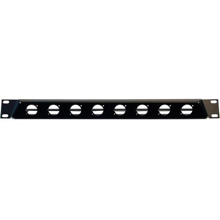 Neutrik NZP1RU-8 Angled Rack Panel - 19in 1RU 8 D-Shape Cutouts