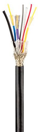 OCC C-006HBAD5KB SMPTE FLEX 7.8mm Fiber Cable - Black - Per Foot