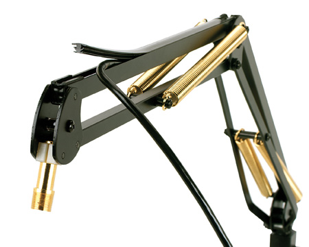 O.C. White 61900-BG ProBoom Elite Mic Arm & Riser - Black & Gold
